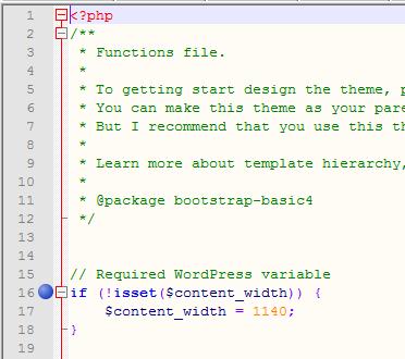 Стандартные закладки в редакторе Notepad++