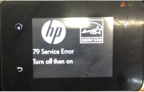 ошибка 79 на принтере