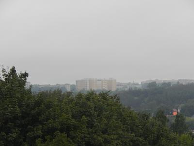 Пасмурная и дождливая погода на прогулке утром 04.07.2018