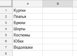 Как сделать выпадающий список в ячейке