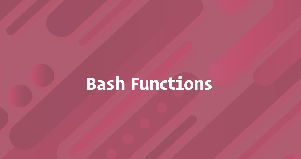 Bash функции